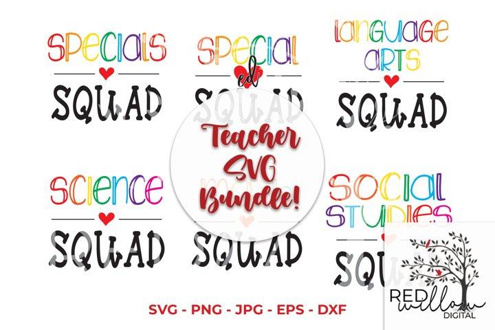 Teacher SVG Bundle, Teacher Squad