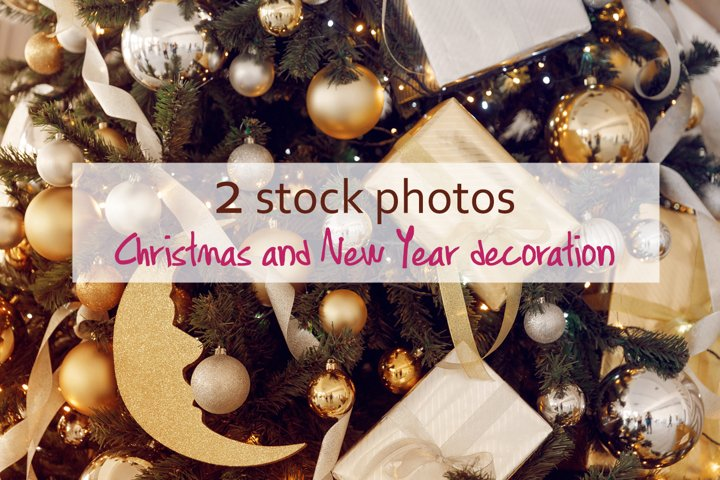 Two stock photos with decoration