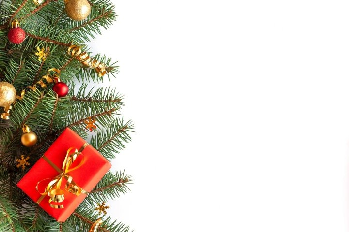 Christmas and New Year frame border