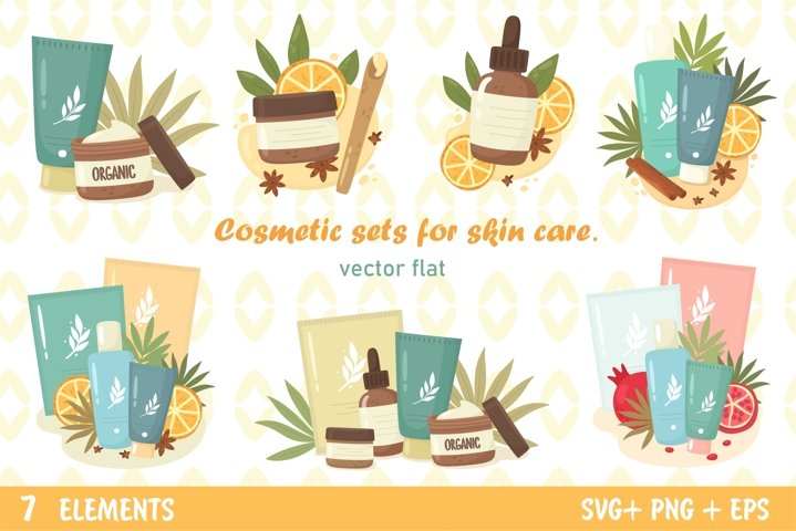 Cosmetic sets for skin care.