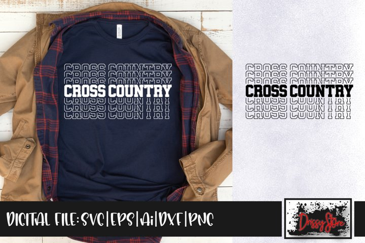 Cross Country SVG DXF Ai EPS PNG