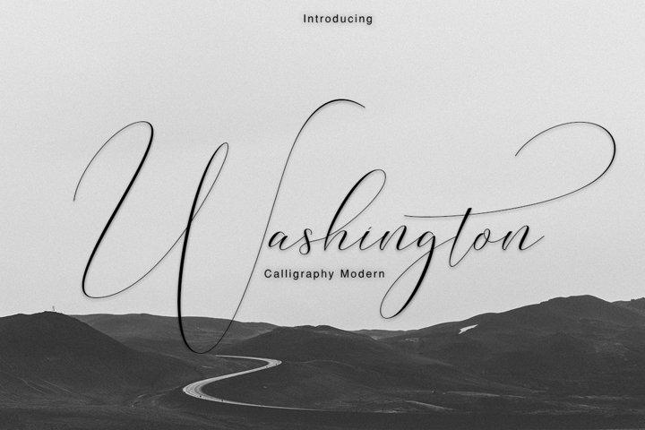 Washington Calligraphy Modern