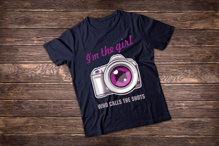Photographer t shirt illustrations. Im the Girl