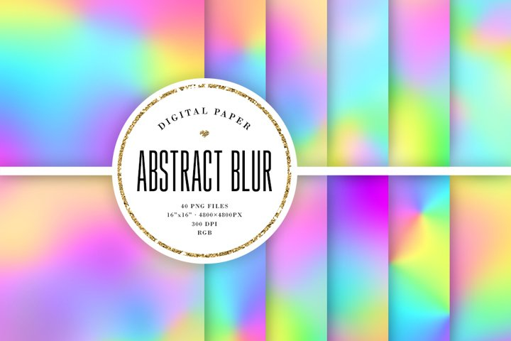 40 Abstract Blur Backgrounds
