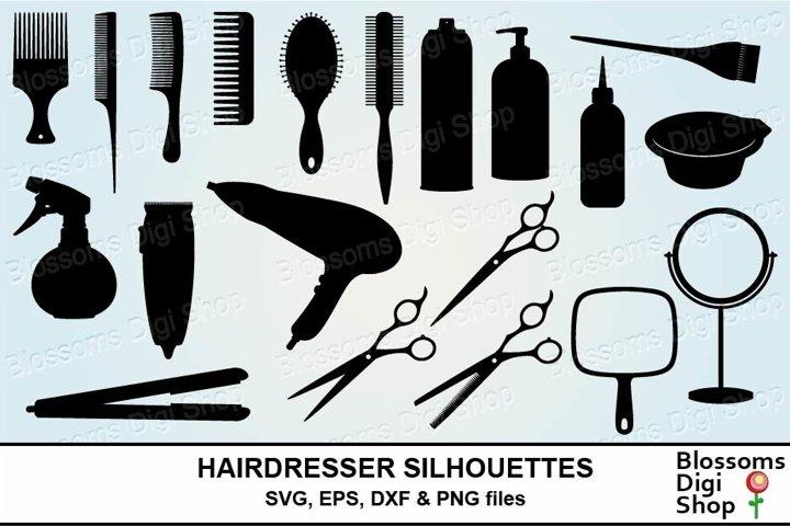 Hairdresser Silhouette Bundle SVG cut files