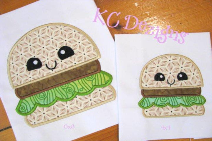 Cheat Day Hamburger Machine Applique Embroidery Design