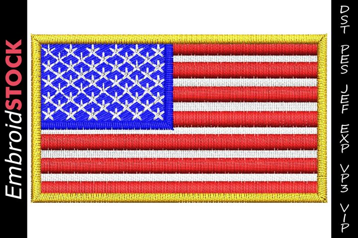 USA Flag Embroidery Design