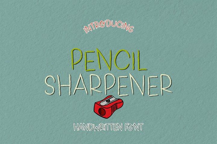Pencil Sharpener - A Pencillike Handwritten Font