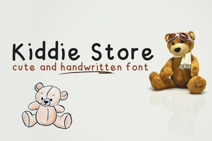 Kiddie Store - cute and handwritten font