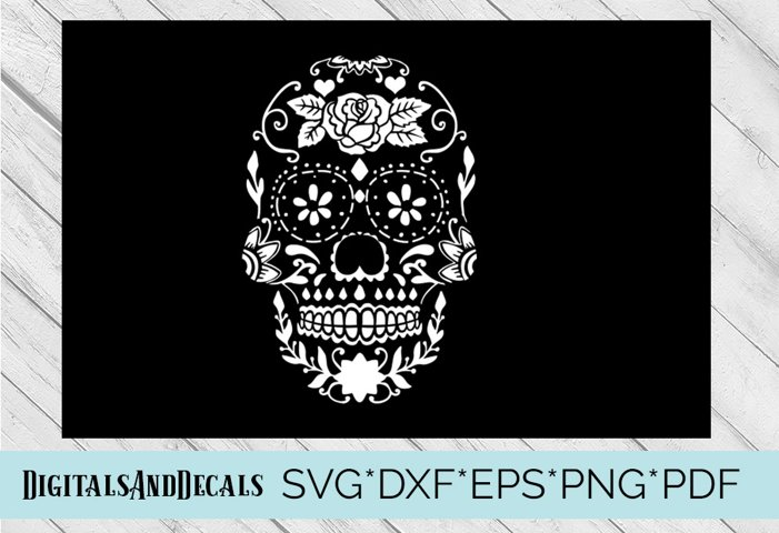 Sugar Skull Stencil SVG Cutting File