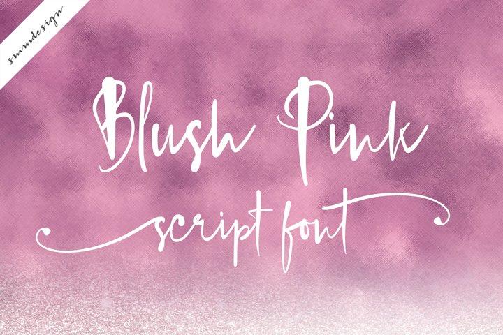 Blush Pink Handwritten Script Font
