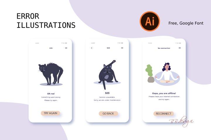WEBSITE ERROR ILLUSTRATIONS, webdesign