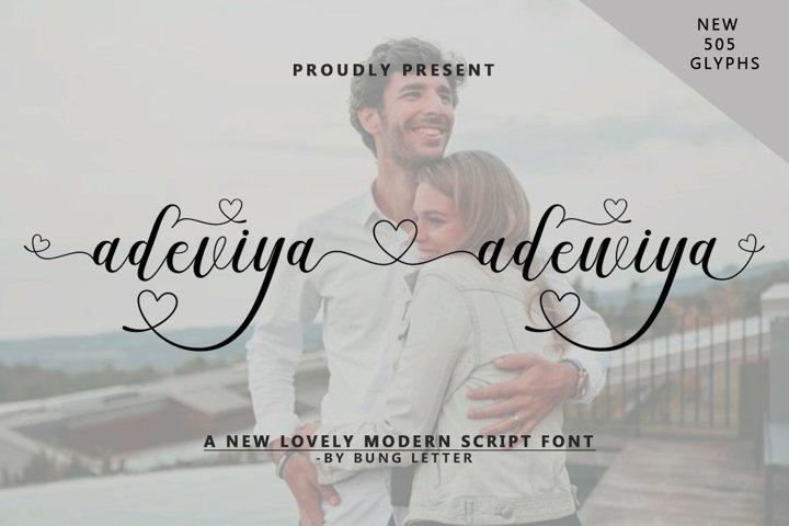 Adeviya adewiya - Lovely Modern Script