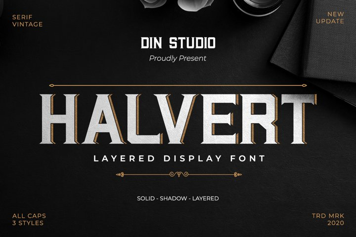 Halvert-Layered Display Font