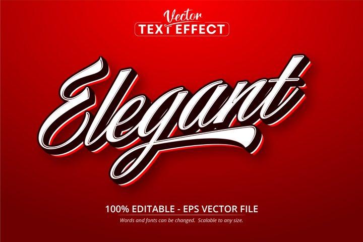 Elegant text, minimalistic style editable text effect