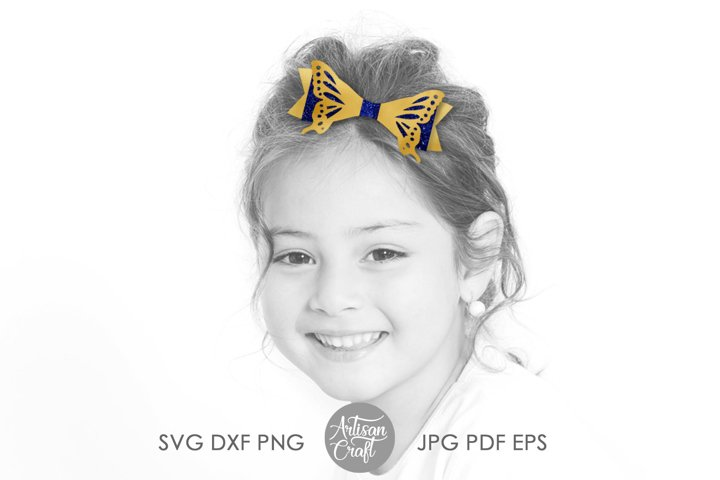 Butterfly bow template, SVG cut files example 2