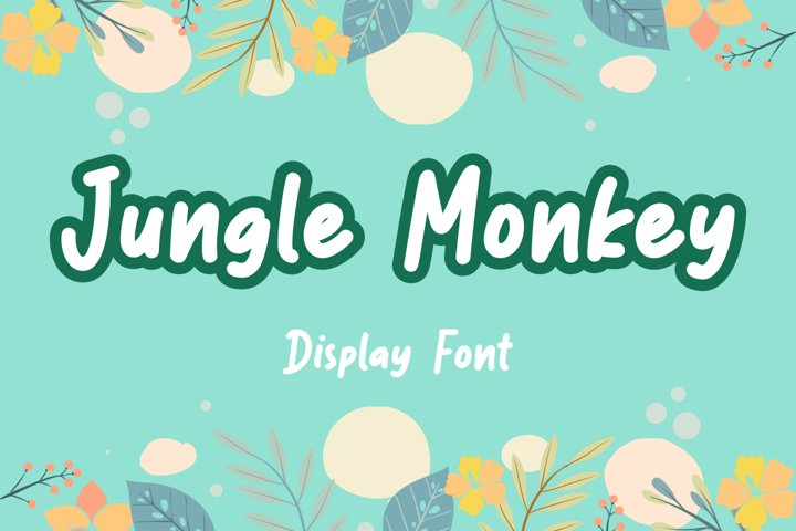 Jungle Monkey display font