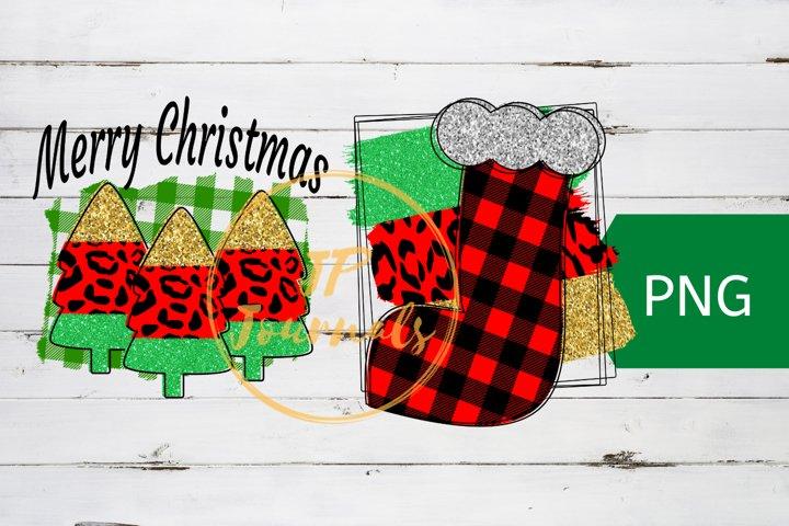 Christmas Sublimation T-Shirt Designs, Animal Print Glitter