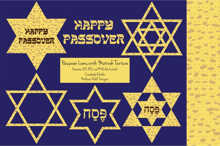Matzoh Textured Passover Icons