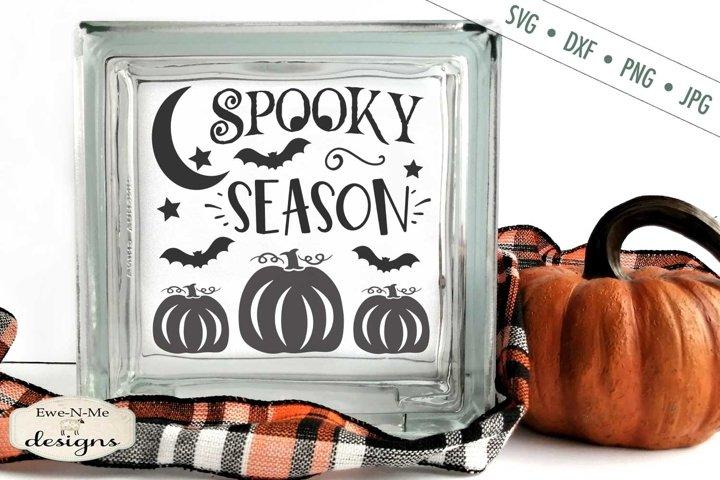 Spooky Season | Halloween | Pumpkin | Bats SVG DXF File