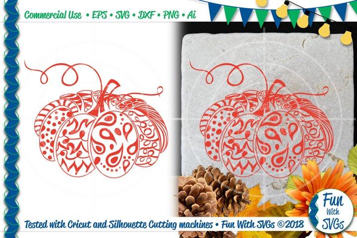 Zentangle Pumpkin Fall SVG Cut File
