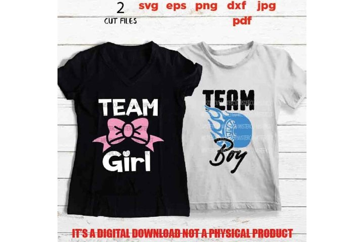 team boy, team girl matching shirts cut files, dxf, gender r