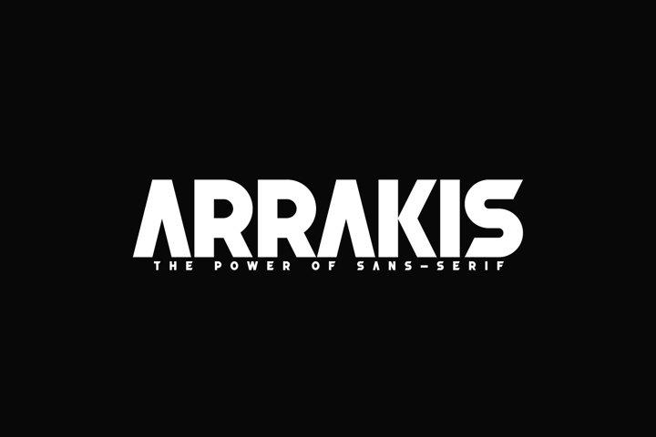 Arrakis - The Power of sans-Serif