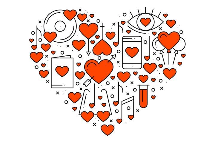 Heart Shape. Love elements. Amore.