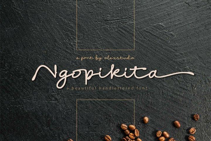Ngopikita - Handlettered font
