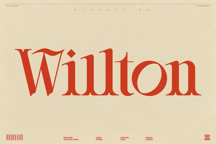 Willton - Multipurpose Display Font