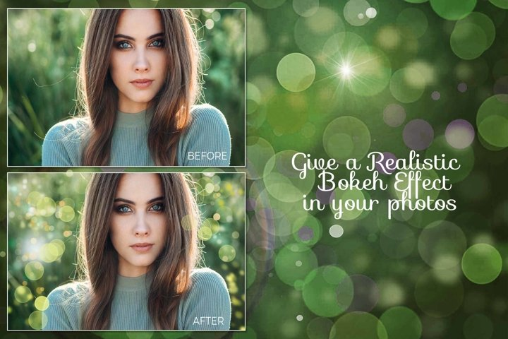 15 Bokeh Photoshop Brushes abr. - Scatter & Dynamics example 8