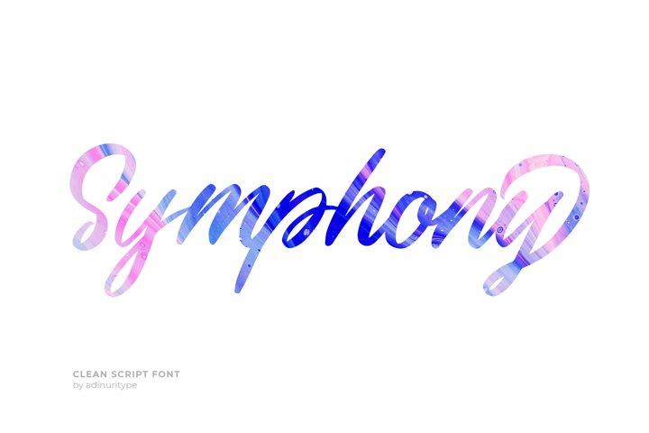 Symphony Script Font