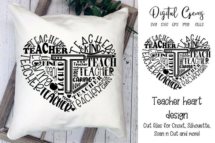 School teacher / Heart typography design