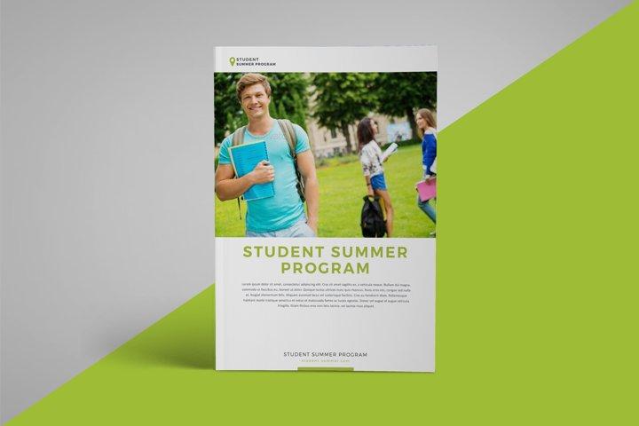 School program brochure