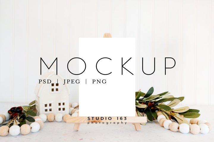 5x7 Card Mockup, Easel Mockup, PSD JPG