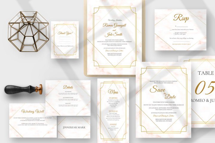 Golden Marble Wedding Suite