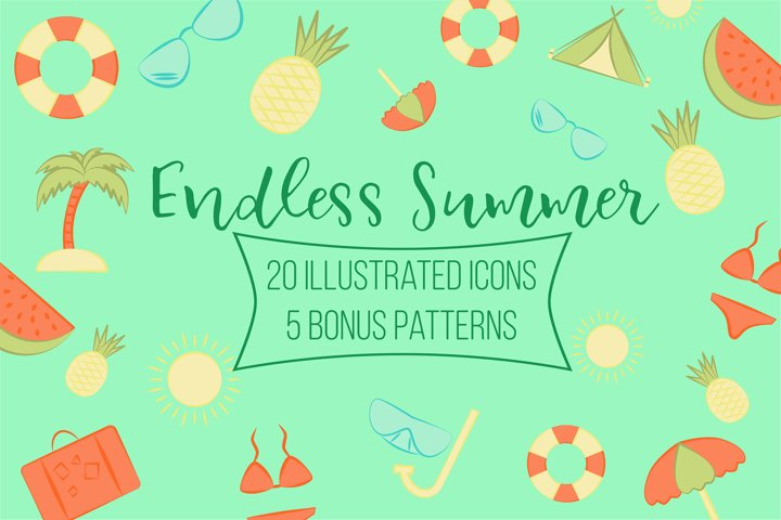 Endless Summer. Icons collection