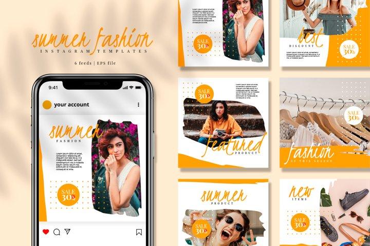 Summer Brush Instagram feed template pack