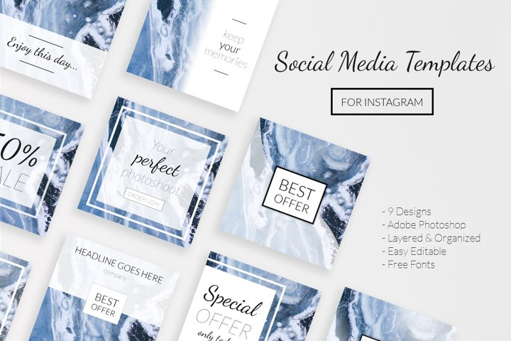9 Social Media Templates for Instagram