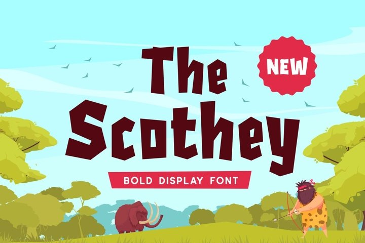 Scothey - Bold Display Font