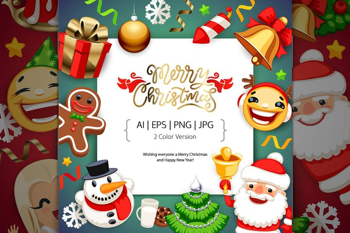 Merry Christmas BG with Copy Space