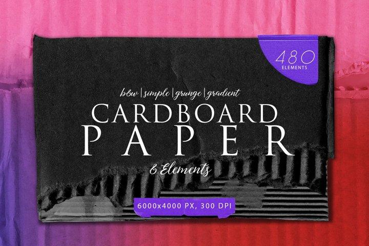 480 Various Cardboard Paper Textures Bundle