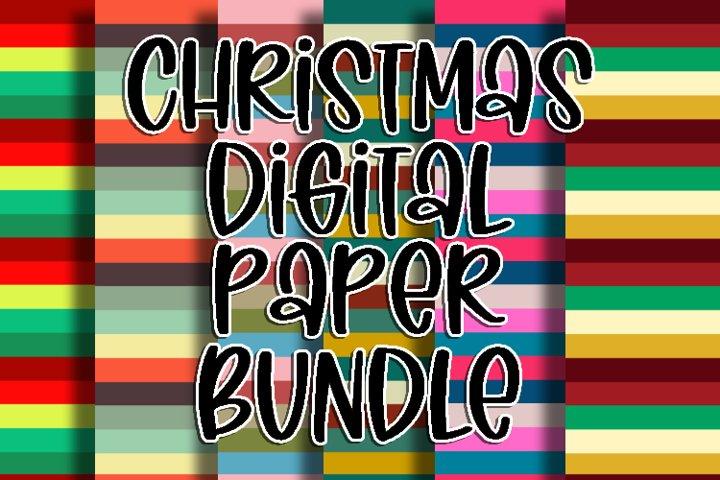 Christmas Digital Paper Bundle
