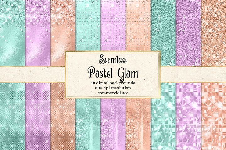 Pastel Glam Digital Paper