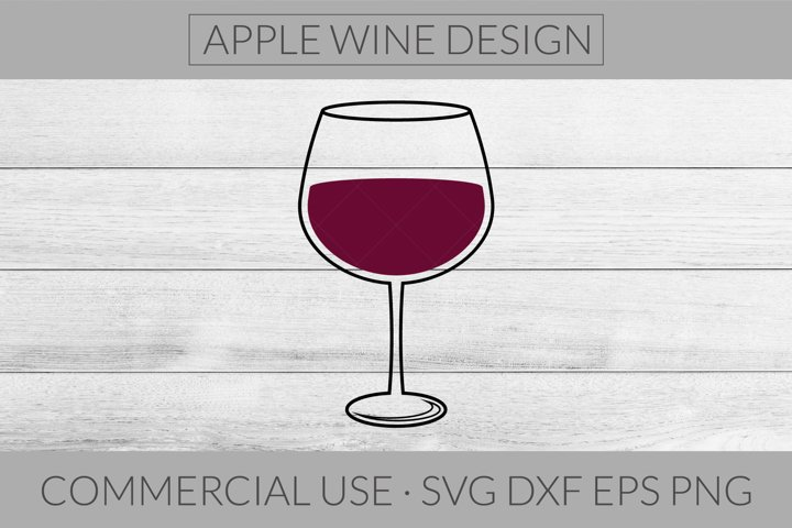 Wine Glass SVG DXF PNG EPS Cutting File