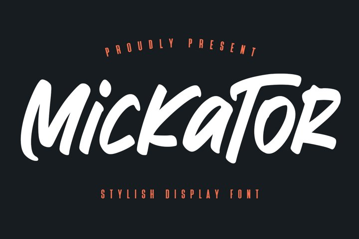 Mickator Stylish Display Font