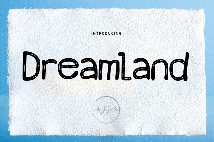 Dreamland // Handwritten Font