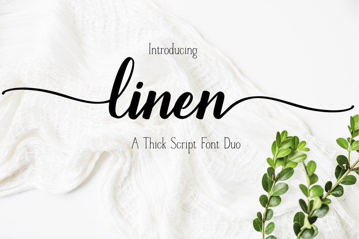 A Font Duo - LINEN - Thick Script paired with a serif