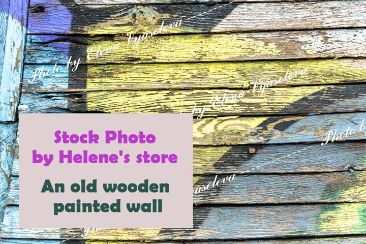 Texture of an old wooden painted wall