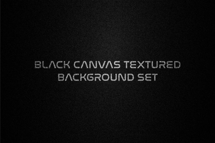 Black canvas fabric textured background